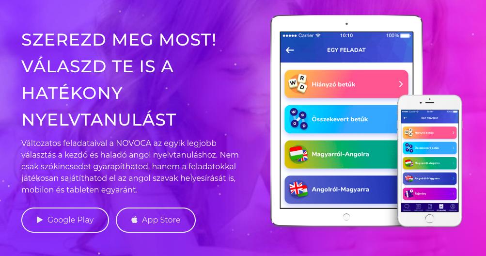 novoca.hu angol applikáció